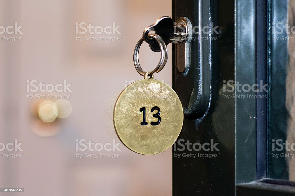 Room number 13 stock photo