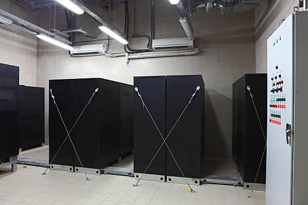 UPS Room stock photo