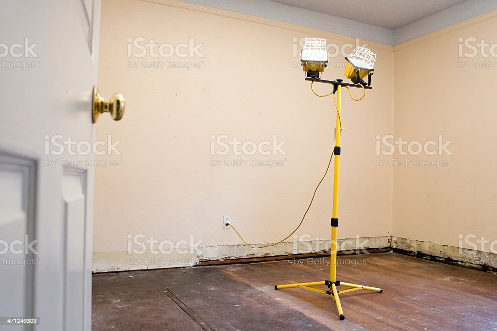 Room renovation stock photo