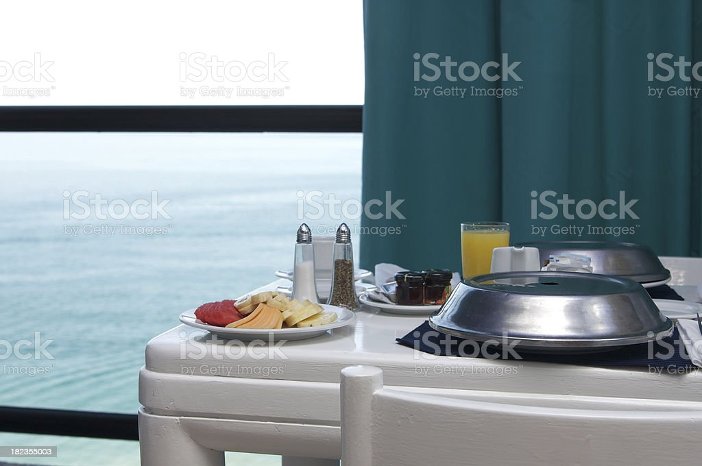 Room Service in Ocean Front Hotel royalty-free stock photo