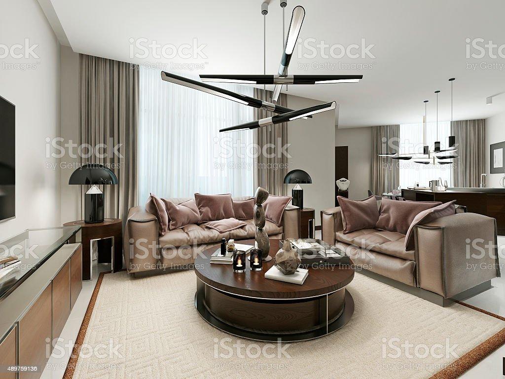Room studio in a modern design. stock photo