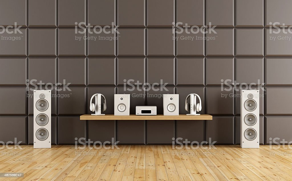 Room to listen to music stock photo
