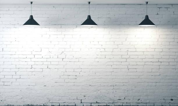 room white brick grunge wall stock photo