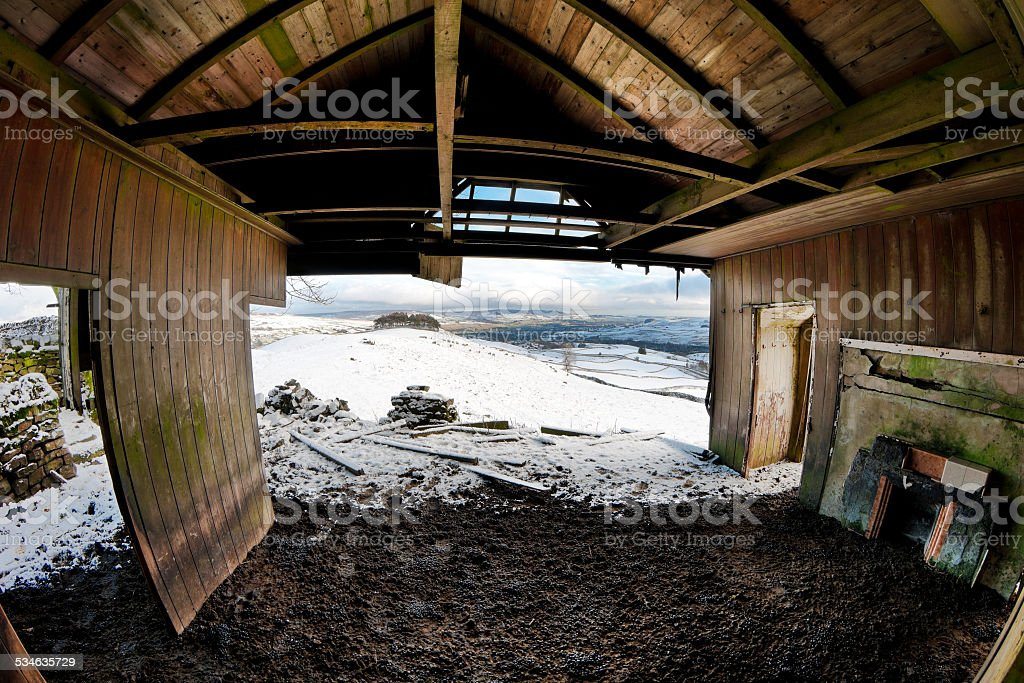 Room with a view, Greengates, Upper Teesdale, County Durham, UK stock photo