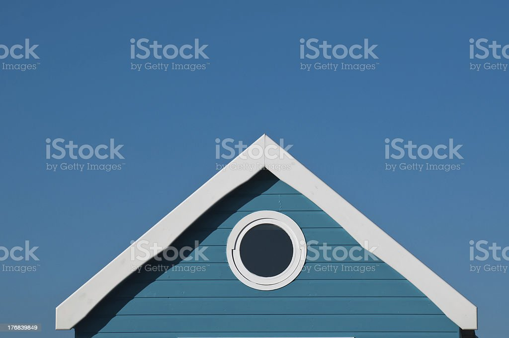 room with a view in holiday home on blue sky royalty-free stock photo