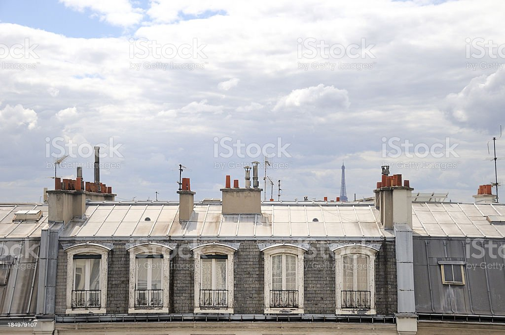 room with a view in Paris France stock photo