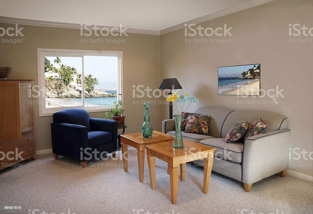 Room with a view - Royalty-free Armchair Stock Photo