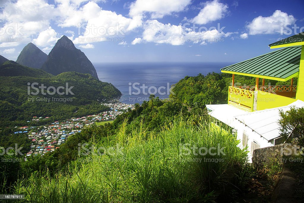 Room with a view - spectacular travel scenic stock photo