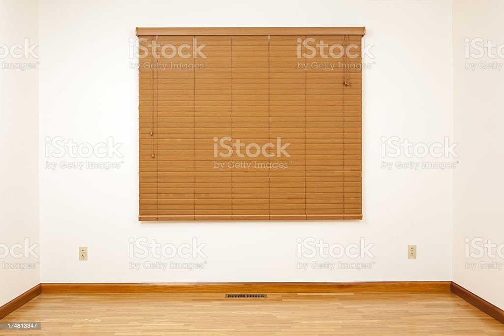 Room with a Window Blind royalty-free stock photo