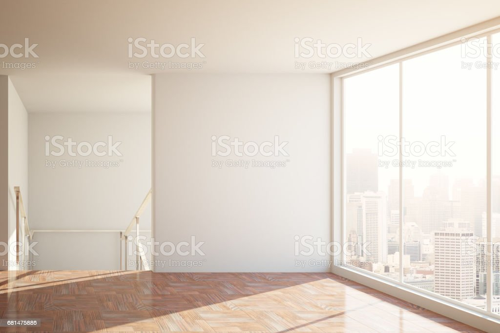 Room with blank wall royalty-free stock photo