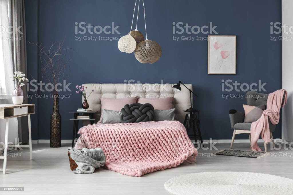 Room with decorations stock photo
