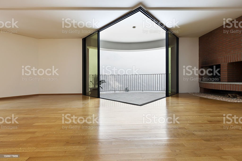 room with fireplace and window. royalty-free stock photo