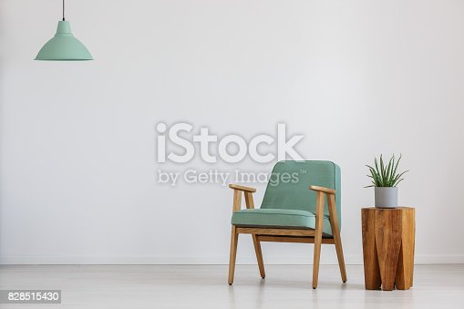 istock Room with mint lampshade 828515430