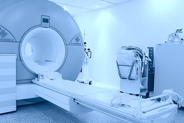 room with MRI machine stock photo