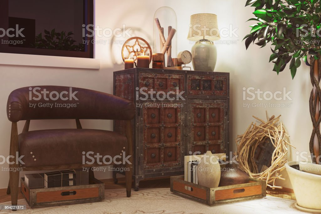 Awe Inspiring Room With Old Rustic Furniture Stock Photo Download Image Pdpeps Interior Chair Design Pdpepsorg