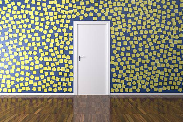 Room with post it stock photo
