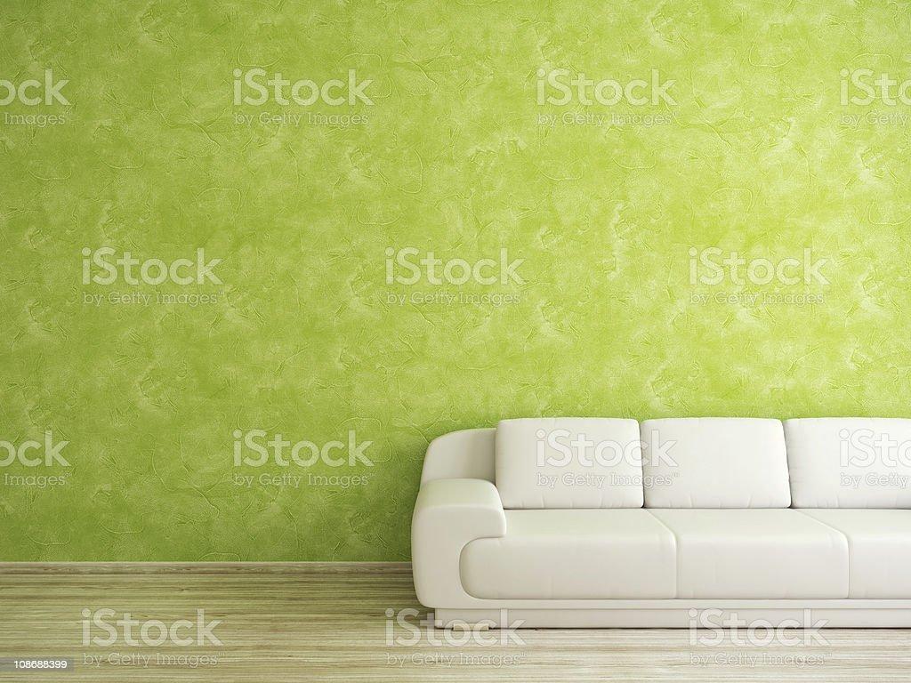 Zimmer mit sofa und Grüne Wand – Foto