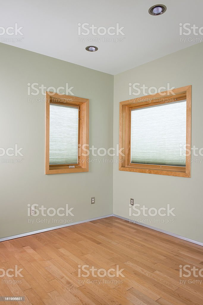 Room With Two Window royalty-free stock photo