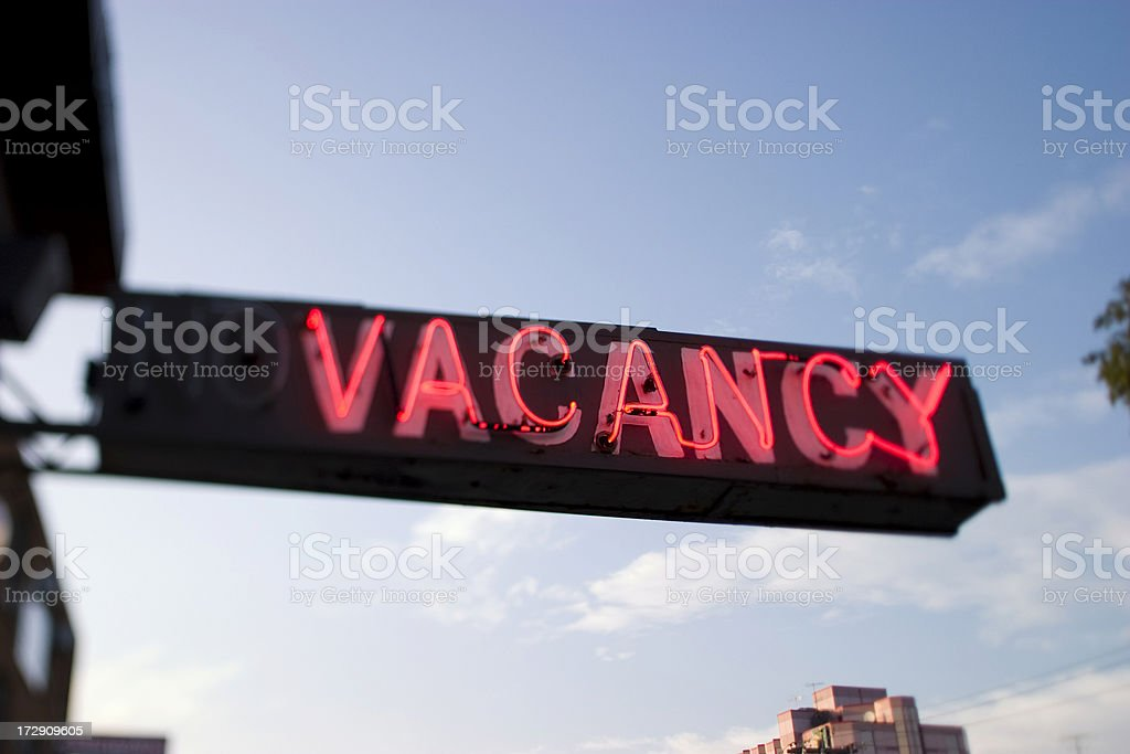 Rooms available at a hotel stock photo