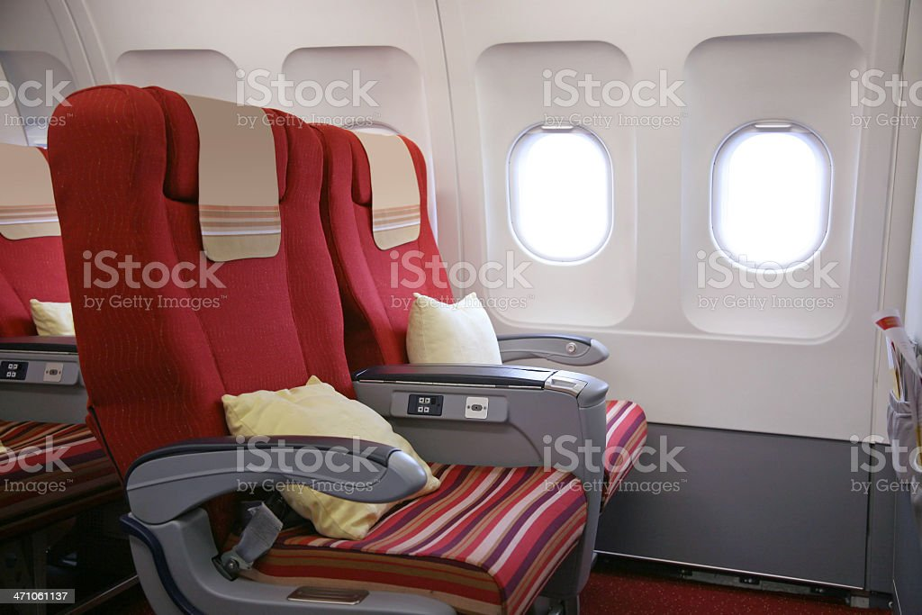 Roomy Airline Seats royalty-free stock photo
