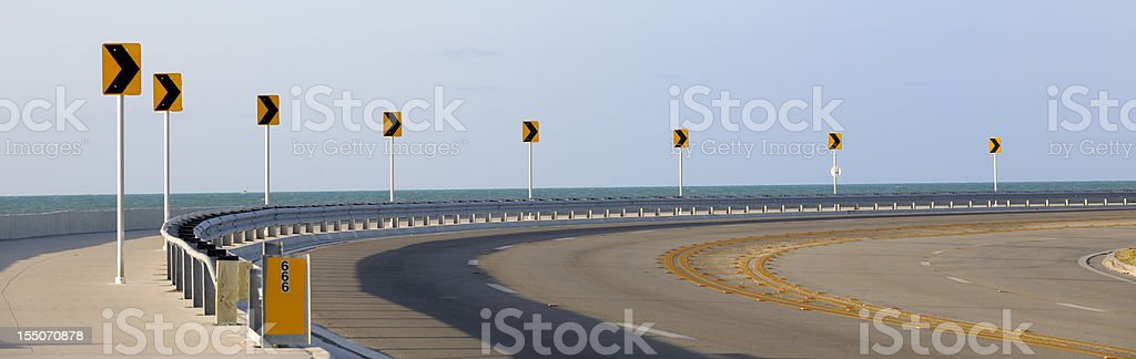 Roosevelt Boulevard, Key West Florida stock photo