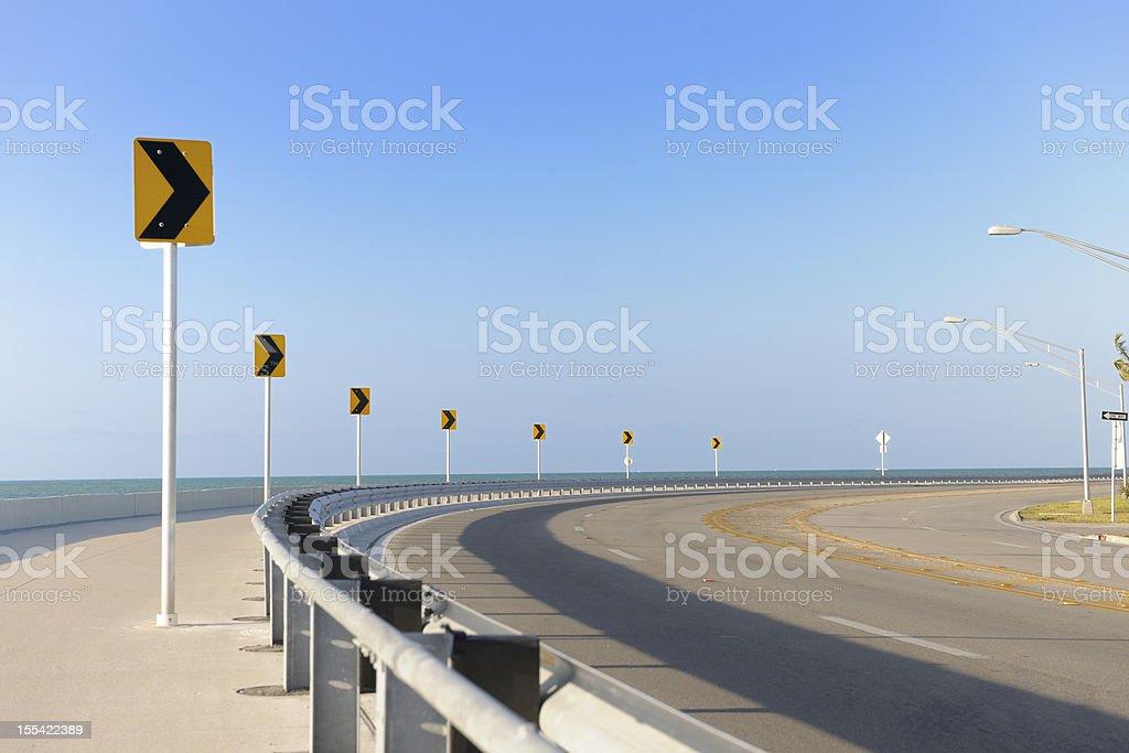Roosevelt Boulevard, Key West Florida stock photo
