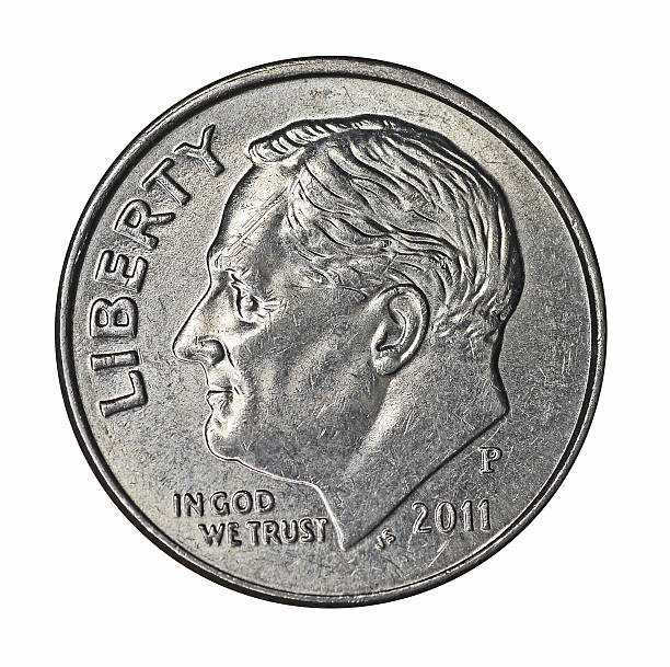 Roosevelt dime US 10 cent coin dime stock pictures, royalty-free photos & images