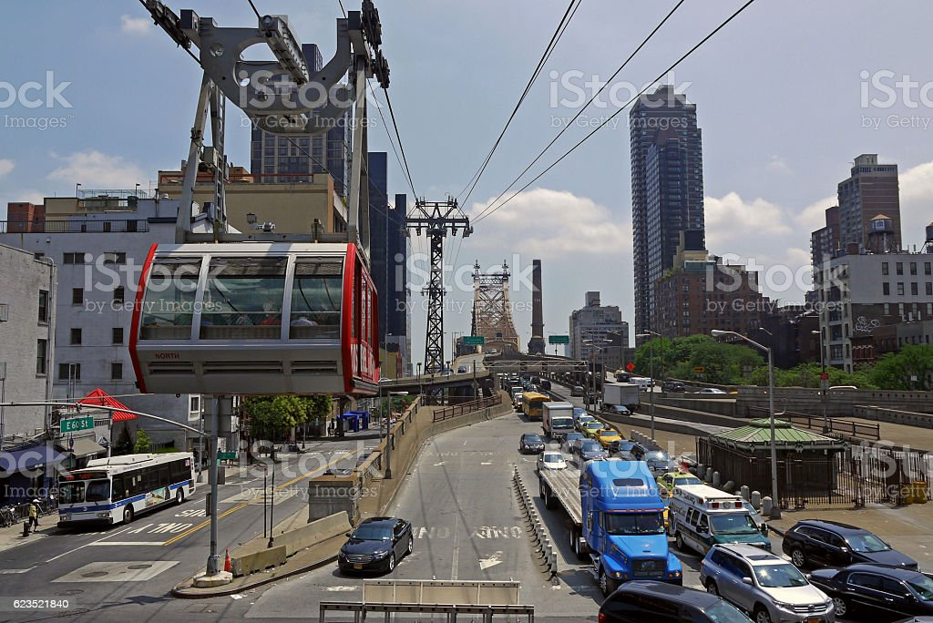 Roosevelt Island cable car. stock photo