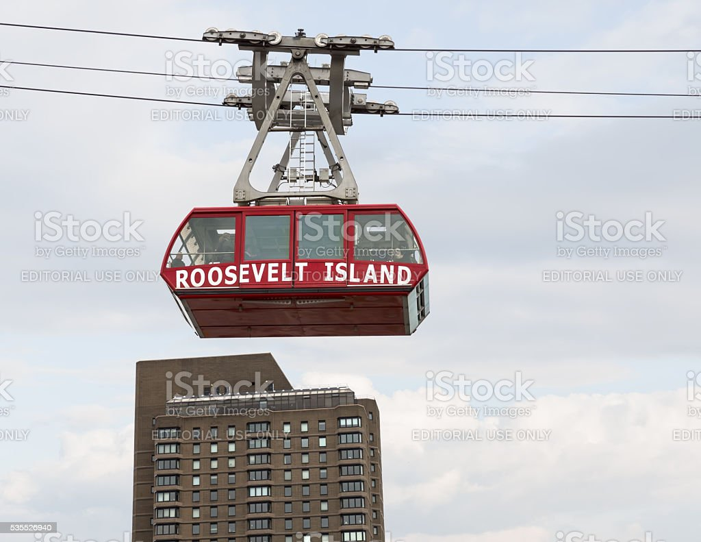 Roosevelt Island cable tram car stock photo
