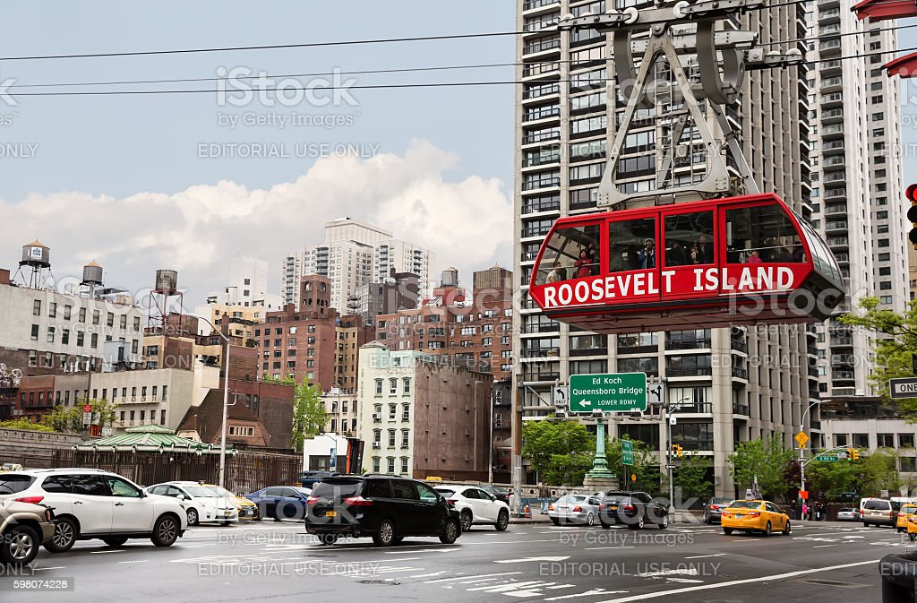 Roosevelt Island cable tram stock photo