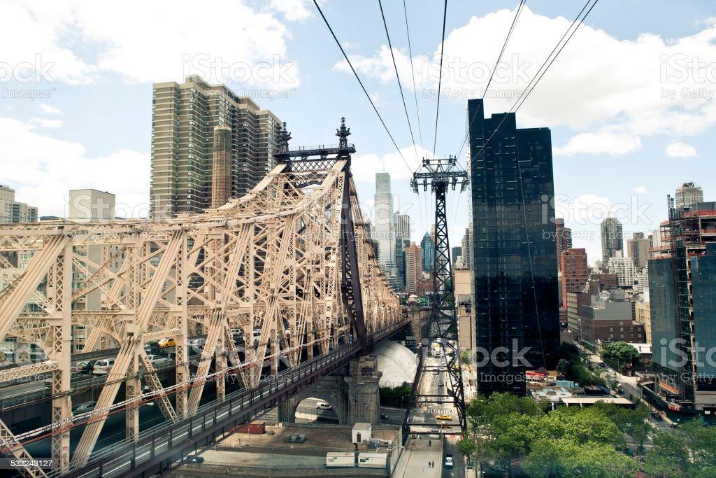 Roosevelt Island Tram in New York. stock photo