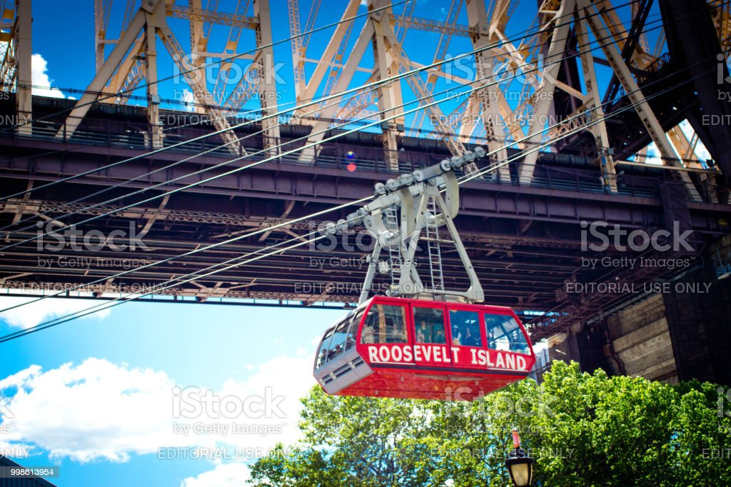Roosevelt island tramway cable car stock photo