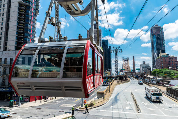 Roosevelt Island tram in New York City, Verenigde Staten​​​ foto