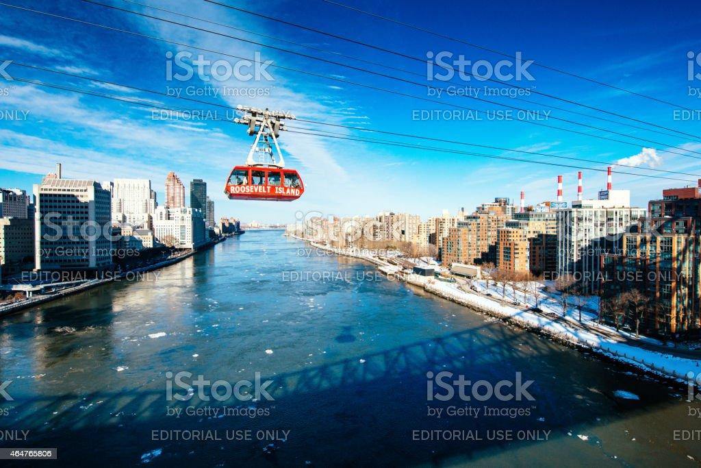 Roosevelt Island Tramway New York stock photo