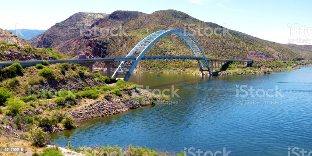 Roosevelt Lake stock photo
