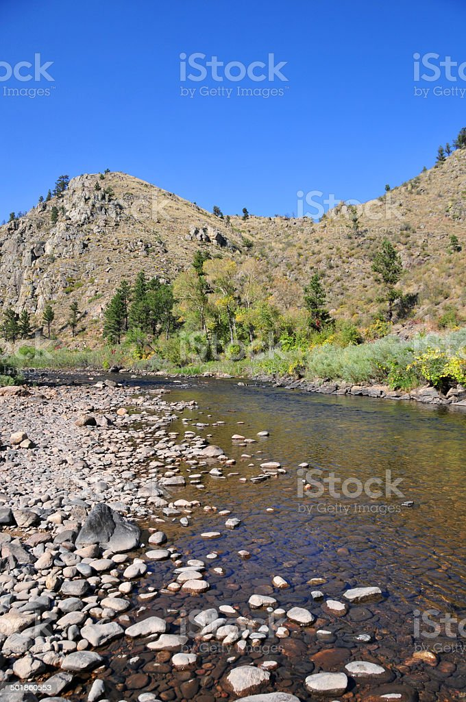 Roosevelt National Forest, Cache la Poudre River stock photo