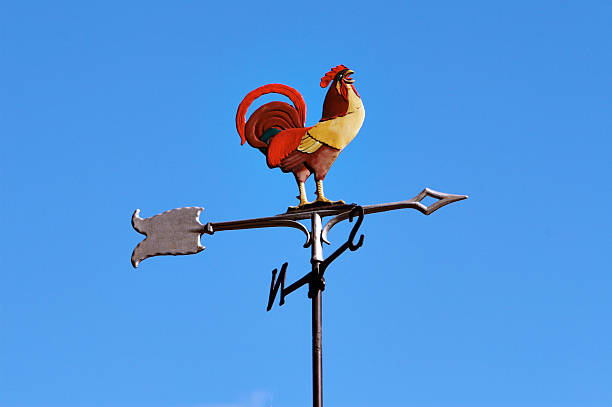 rooster and the winds #2 rooster with south winds weather vane stock pictures, royalty-free photos & images