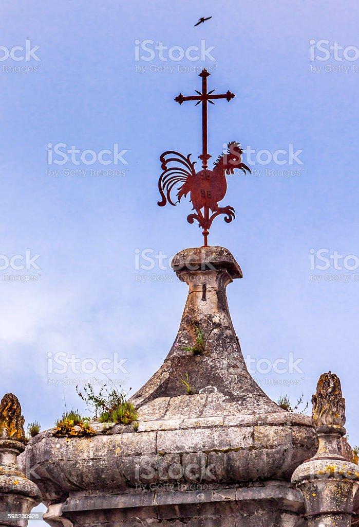 Rooster Cross Tower Igreja do Carmo Church Coimbra Portugal foto royalty-free