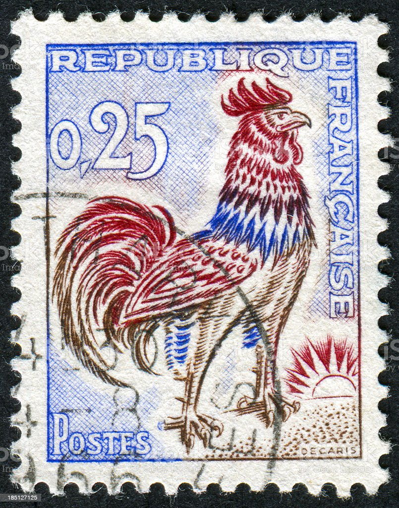 Rooster Stamp Royalty Free Stock Photo