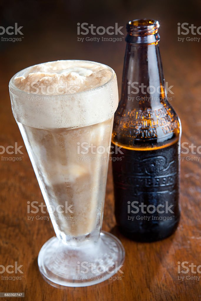 Root Beer Float stock photo