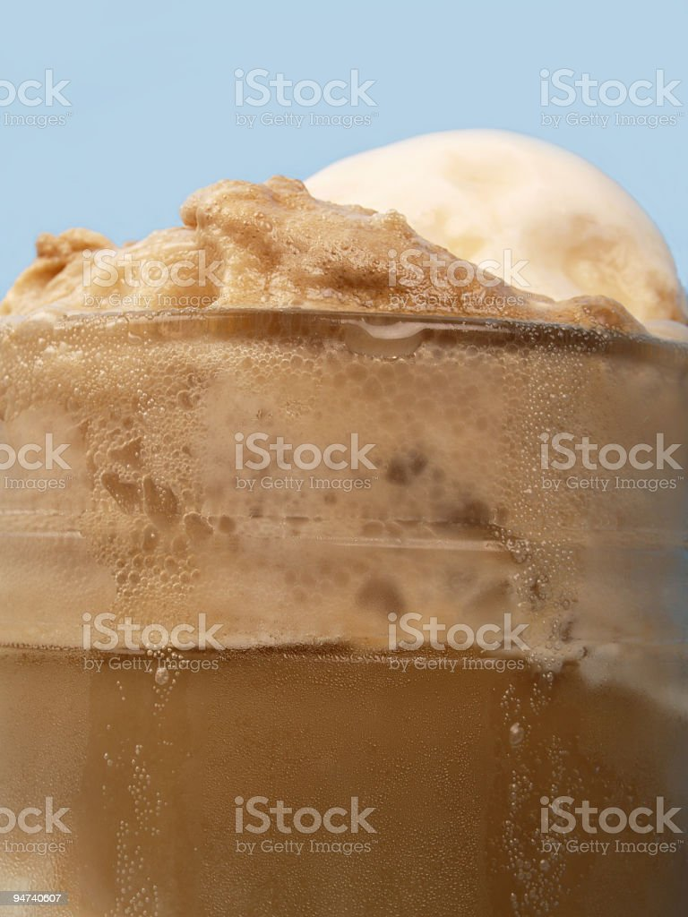 Root Beer Float Profile stock photo