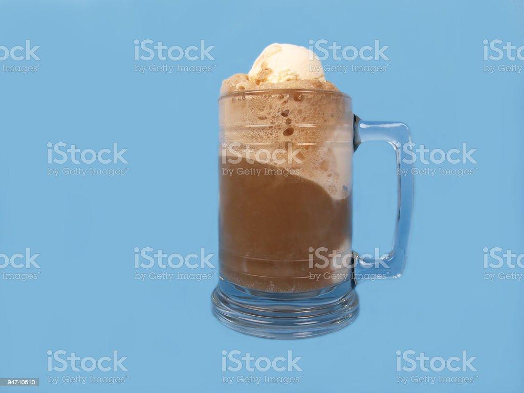 Root Beer Float Top View stock photo