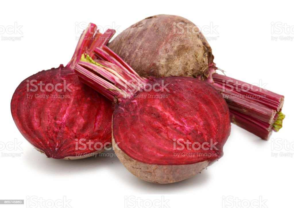 Root beet - isolated on white background stock photo