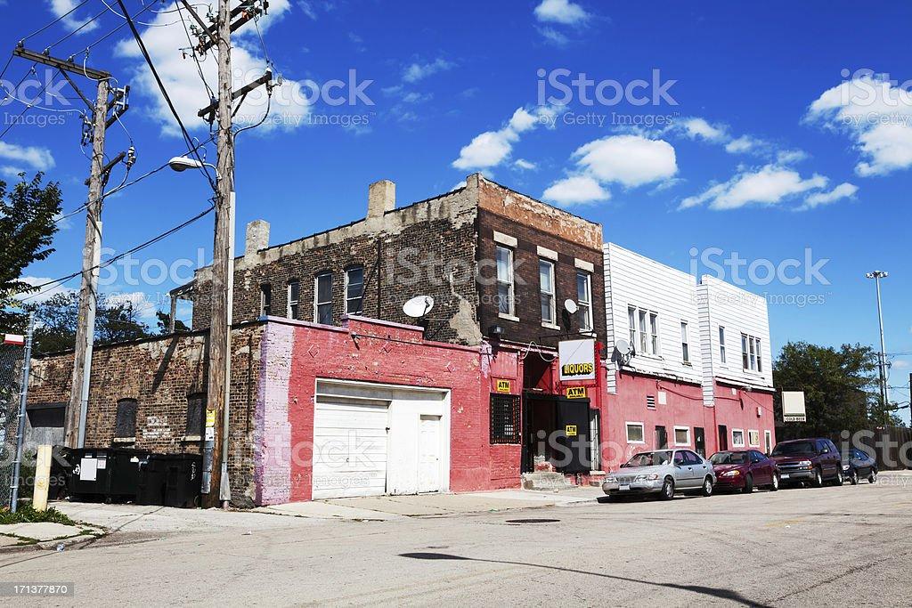 Root Inn neighborhood bar, Fuller Park, Chicago royalty-free stock photo