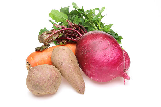 Root vegetables Pictured root vegetables in a white background. root vegetable stock pictures, royalty-free photos & images