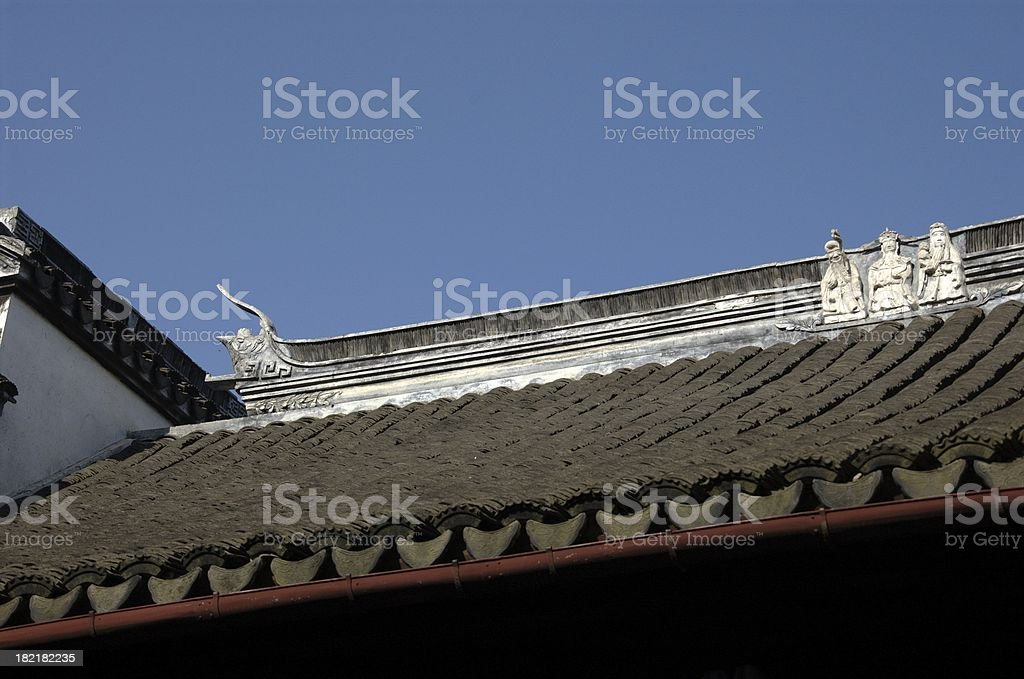 Roottop (Ming Dynasty) @ TongLi (ShangHai, China) stock photo