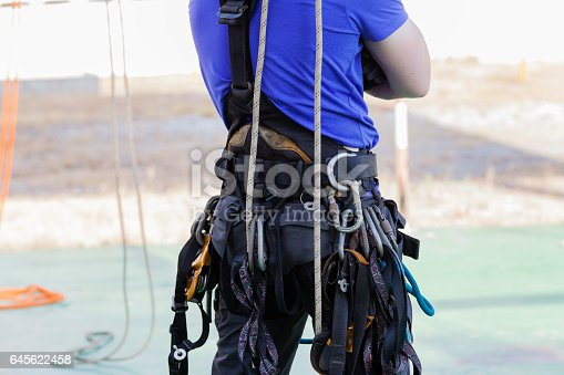 istock Rope access irata worker 645622458