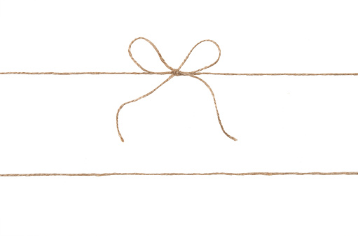 Rope And Bow Isolated On White Stock Photo - Download Image Now