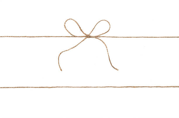 rope and bow isolated on white - string stock photos and pictures