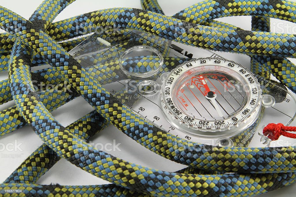 Rope and Compass royalty-free stock photo